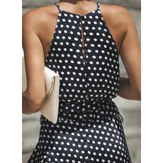 d31902d5474 Πουά Στρογγυλός λαιμός Μάξι φόρεμα Αμάνικο (199234874) - φορέματα ...