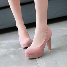 Women's Suede Stiletto Heel Pumps Platform Closed Toe With Others shoes