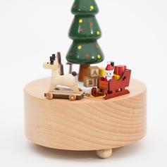 Atrakcyjny Boże Narodzenie Piękny Drewno Pozytywka