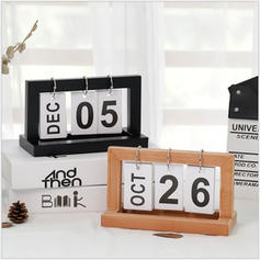 Contemporáneo Madera Calendario Objetos decorativos