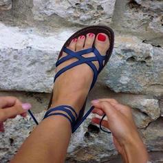 Naisten PU Matalakorkoiset Heel Sandaalit Matalakorkoiset Peep toe jossa Muut kengät