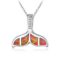 Animal Designed Silver With Rhinestone Unisex Fashion Necklace