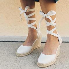 Tejido Tipo de tacón Cuñas con Cordones zapatos