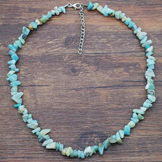 Beautiful Fashionable Simple Natural Stone Women's Necklaces
