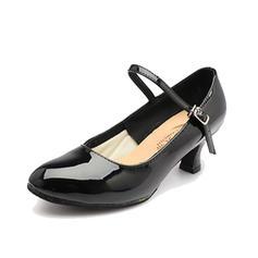 Femmes Chaussures de Caractère Talons Escarpins Cuir verni avec Boucle Modern Style