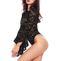 Polyester Spandex Lace Teddy