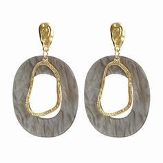 Square Alloy Acrylic Women's Earrings