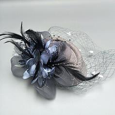 Ladies' Glamourous/Simple/Handmade/Eye-catching Net Yarn/Silk Flower With Tulle Fascinators
