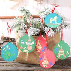 Snømann reinsdyr nisse Engel Tre Julevedheng Trehengende ornamenter