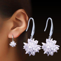 Unique Alloy Crystal Ladies' Earrings