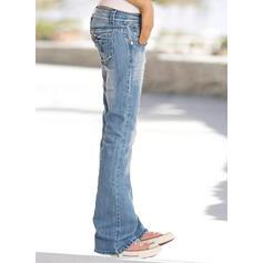 Les poches Grande taille Longue Plaine Jeans