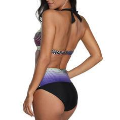 Низкая талия пэчворк недоуздок Выделяющийся Bikinis купальников