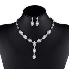 Shining Alloy Ladies' Jewelry Sets