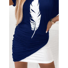 Print Short Sleeves/Batwing Sleeves Bodycon Above Knee Casual Dresses