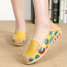 Femmes Similicuir Talon plat Chaussures plates Bout fermé chaussures