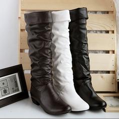 Λείαντο Χοντρό φτέρνα Γόβες υψηλές μπότες Με Διαχωρισμένη άρθρωση παπούτσια