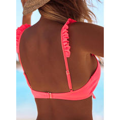 Solid Color Triangle Low Waist Strap Sexy Attractive Bikinis Swimsuits