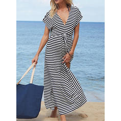 Stripe V-neck Sexy Cover-ups Swimsuits