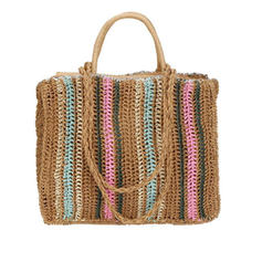 Classical/Pretty/Stripe/Splice Color Paper Rope Tote Bags/Beach Bags