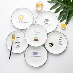 Simple Porcelain Dinner Plates