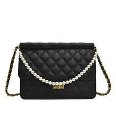 Pearl Style PU Crossbody Bags/Shoulder Bags