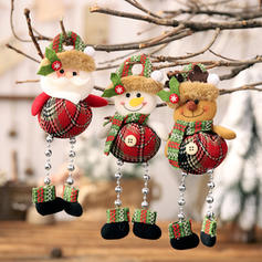 Snowman Reindeer Santa Christmas Hanging Long Leg Cloth Doll Christmas Décor