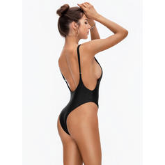 53a45cddfe Solid Color Thong High Cut Strap Sexy One-piece Swimsuits (202228657 ...