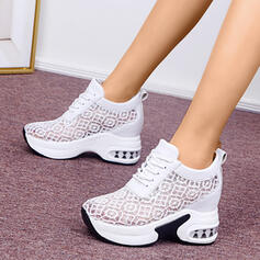 Women's Lace PU Casual Athletic Hiking With Lace-up shoes