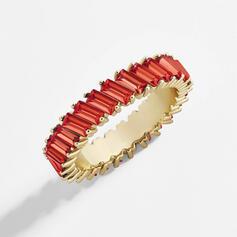 Charme Mais quente Liga Zircon com Zircon Anéis