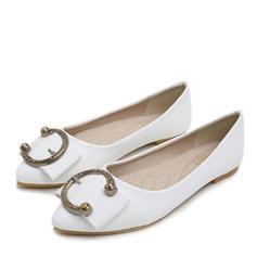 Femmes Similicuir Talon plat Chaussures plates Bout fermé avec Bowknot Boucle chaussures