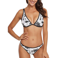 Niski stan W prążki Seksowny Elegancki Bikini Stroje kąpielowe