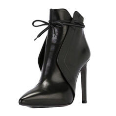 Frauen PU Stöckel Absatz Absatzschuhe mit Zweiteiliger Stoff Schuhe
