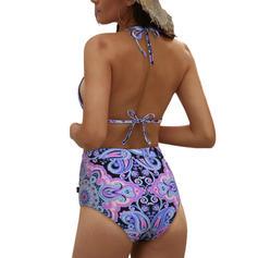 Bloemen Halter Sexy modieus Bikini's Badpakken