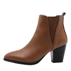 Vrouwen PU Chunky Heel Pumps Laarzen met Elastiek schoenen