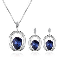 Shining Alloy Rhinestones Glass With Rhinestone Women's Jewelry Sets (Set of 2)
