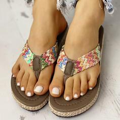Donna PVC Senza tacco Infradito Ciabatte scarpe