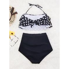 Dot String Halter Sexy Bikinis Swimsuits