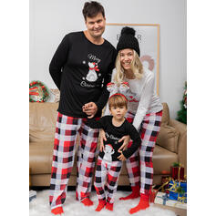 Bear Plaid Print Family Matching Christmas Pajamas Pajamas