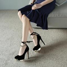 Vrouwen Suede Stiletto Heel Pumps Plateau schoenen