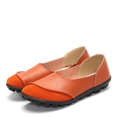 Femmes Vrai cuir Talon plat Chaussures plates avec Autres chaussures