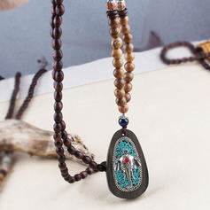 Unique Beautiful Fashionable Lovely Natural Stone With Resin Necklaces
