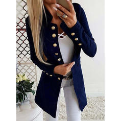 Polyester Long Sleeves Plain Blazers