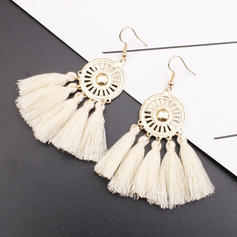 Stylish Alloy Braided Rope With Tassels Women's Earrings (Sold in a single piece)