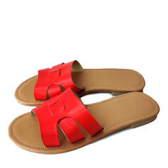 Women's PU Flat Heel Sandals Flats Slippers shoes