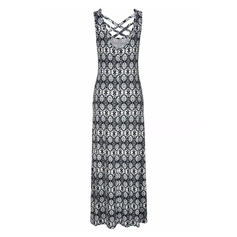 Print Sleeveless A-line Maxi Casual Dresses