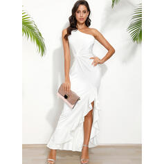 Solid Sleeveless Sheath Party Maxi Dresses