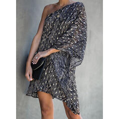 Print Long Sleeves Shift Above Knee Party/Elegant Dresses
