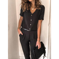 Solid Casual Jumpsuits