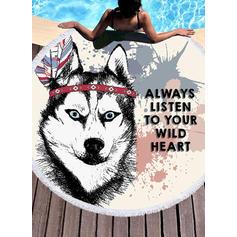 chien Énorme/rond serviette de plage