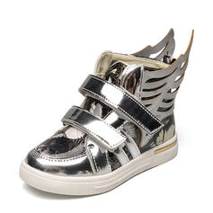 Girl's Leatherette Flat Heel Closed Toe Flats Sneakers & Athletic With Velcro Animal Print